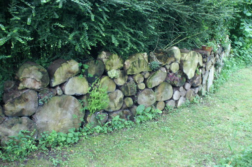 Gillian's Log Wall